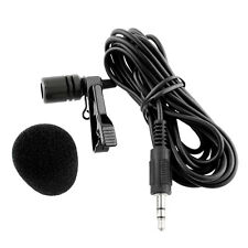 Clip-on Lapel Mini Lavalier Microphone 3.5mm Jack For iPhone Recording Laptop