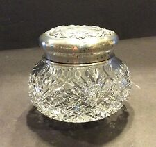 HOWARD STERLING COMPANY CRYSTAL VANITY DRESSER JAR STERLING SILVER LID 1890s