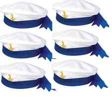 x6 SAILORs HAT MARINE NAVY SEAMAN MARINE CAPTAINS Ladies Men's Fancy Dress Hat