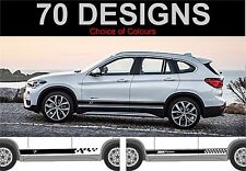 bmw x1 side stripes decals stickers graphic side stripe fit BMW X1