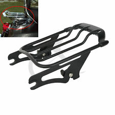 Black Air Wing Two Up 2up Luggage Rack For Harley Davidson Road King FLHR 09-17