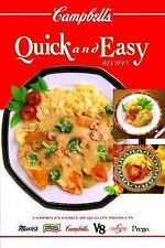 Campbell's Quick & Easy Recipes, Teberg, Patricia, Good Condition, Book
