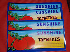 10 VINTAGE TOMATOE CRATE LABELS ADVERTISING  SUNSHINE ONLEY VIRGINIA