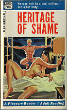 Vintage Sleaze PB Paperback - Heritage of Shame - Pleasure Reader Greenleaf 1968