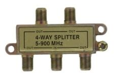 4 WAY SPLITTER FOR TV/CABLE COAX 5-900 MHZ (LOT OF 10) LOW PRICE & FREE SHIPPING