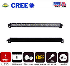 "22"" 100W CREE Mini Slim Single Row LED Light Bar For 2007-up Jeep Wrangler JK"