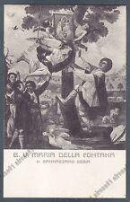 NOVARA SAN NAZZARO SESIA 15 MADONNA della FONTANA Cartolina VIAGGIATA 1915