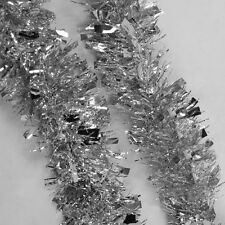B3 2m (6.5ft) Silver Christmas Tree Tinsel Garland Embossing Decoration