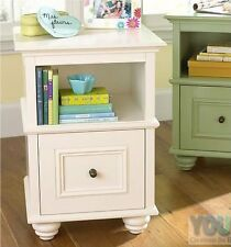 New YoungOZ Petite White Bed Side Table/Lamp Table