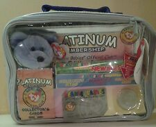 1999 Ty Platinum Edition Club Membership Kit Teddy Bear Coin Cards Case New Seal