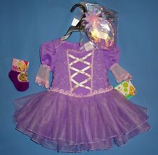 Disney Princess Rapunzel costume dress;child;12-18 mo;Flower Headband;new socks