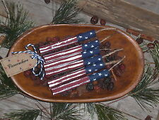 6 Primitive Americana July 4 PATRIOTIC Wooden Firecrackers Bowl Fillers Party