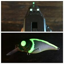 OUTDOOR GLO GREEN glow in the dark paint.Gun sights and fishing lures
