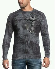 "AFFLICTION NWT XXL / 2X Reversible Thermal ""Thy Hunted"" Long Sleeve Shirt"