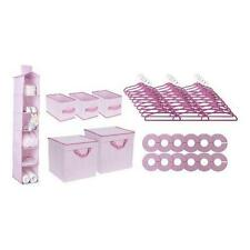 Delta Children Nursery Storage Set, Pink, 48 Piece New
