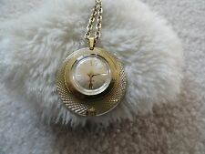Vintage Swiss Made Webster Wind Up Necklace Pendant Watch
