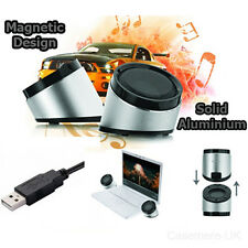 USB LAPTOP PORTABLE SPEAKERS MULTIMEDIA SOUND MUSIC DESKTOP PC COMPUTER NOTEBOOK