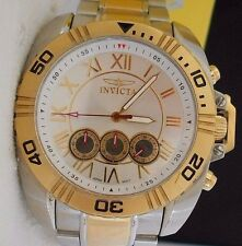 Mint Mens INVICTA  S1 5076 Tri Chronograph Stainless Steel Watch and Box