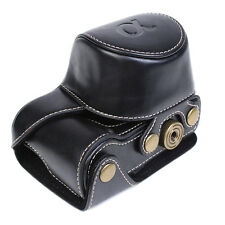 Black Leatheriod Camera Bag Case Cover Pouch For Sony A5000 A5100 NEX 3N HQ