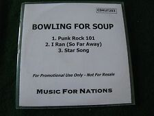 BOWLING FOR SOUP.. Punk Rock 101  (3 Track CDR Promo Single)