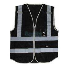 Traffic Safety Waistcoat Reflective Vest Uniforms & Work Clothing XL Black