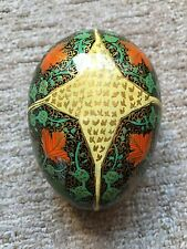 Superb Lacquered Egg Box. Beautifully Decorated.