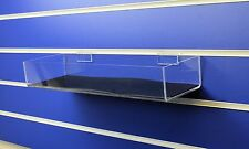 Slatwall Shelf / Tray 400mm Wide with Rubber non slip lining