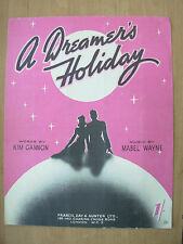 VINTAGE SHEET MUSIC - A DREAMERS HOLIDAY - PIANO VOICE UKULELE