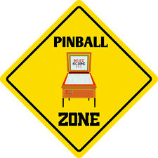 "*Aluminum* Pinball Zone Funny Metal Novelty Sign 12""x12"""