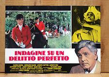 INDAGINE SU UN DELITTO PERFETTO fotobusta poster Adolfo Celi Fantino Cavallo