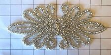 "Large 8.8"" by 4.5"" Crystal Rhinestone Applique"