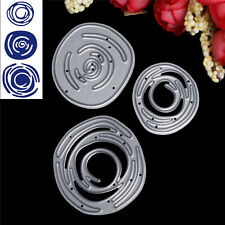 3X Circle Metal Cutting Dies Stencil DIY Scrapbooking Album Card Embossing Craft