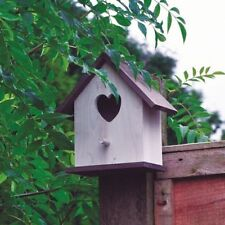 White shabby Chic Wooden Bird House Hotel Nesting Box Garden Ornament Wall NEW
