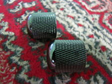 Original Ibanez METAL DOME KNOBS (snap on type) in COSMO BLACK