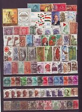 India Used 200 ALL Different British India+Commemoratives+Definitives Stamps