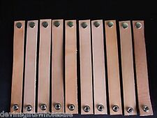 #BR8 LOT OF 10 TOOLING LEATHER  BRACELET BLANKS W/SNAP
