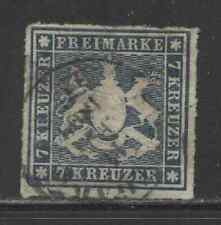 1868 German States WURTTEMBERG  7 Kreuzer Cote of Arms  used, € 160.00