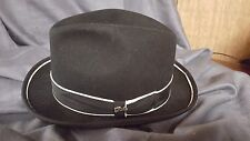 Bailey of Hollywood-Classic New Yorker Premium Wool Felt Fedora-Black-L-NWOT