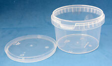 20 x 560ml Clear Plastic Tamper Proof Tubs/Containers with Lids