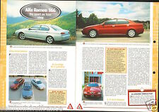 Alfa Romeo 166 Berline V6 24 Soupapes Italia Italy 1998 Auto Car FICHE FRANCE