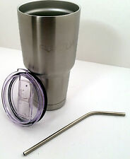 Yeti Style Stainless Steel Vacuum Insulated Cup 30 oz NEW with FREE Lid & Straw