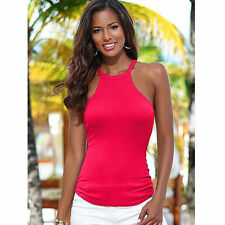 Sexy Women Girl Summer Vest Tops Sleeveless Blouse Casual Tank Halter Shirt