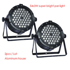 2pcs/lot 54x3W RGBW LED par light for event disco stage party strobe dj bar