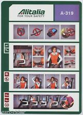 ALITALIA A-319 safety card 64502023 no date - very good cond sc562