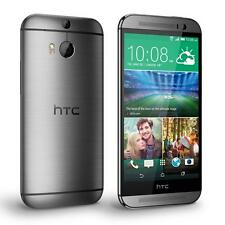 "HTC One m8 32gb DUAL CAMERA 5"" Display 4g LTE Sbloccato Telefono NUOVO di zecca Gray"