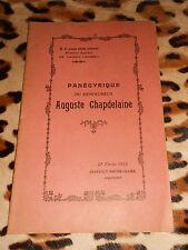 2 brochures : Panégyrique du bienheureux Auguste Chapdelaine - Avranches, 1927