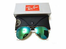 Ray-Ban Sunglasses RB3025 112/19 58-14 Aviator Green Flash Lenses