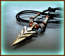 "INDIAN style ARROWHEAD (1-3/4"") Jewelry Pendant Necklace - Florida State U theme"