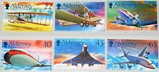GB GUERNSEY ALDERNEY 2003 206-11 203-08 Powered Flight Concorde Airplanes MNH