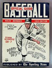 1953 The Sporting News Baseball Guide Robin Roberts